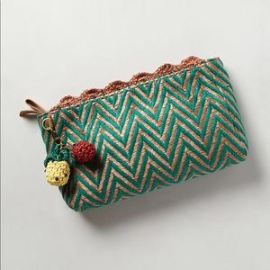Anthropologie Miss Albright Straw Clutch